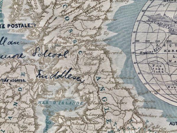 Stoff Weltkarte